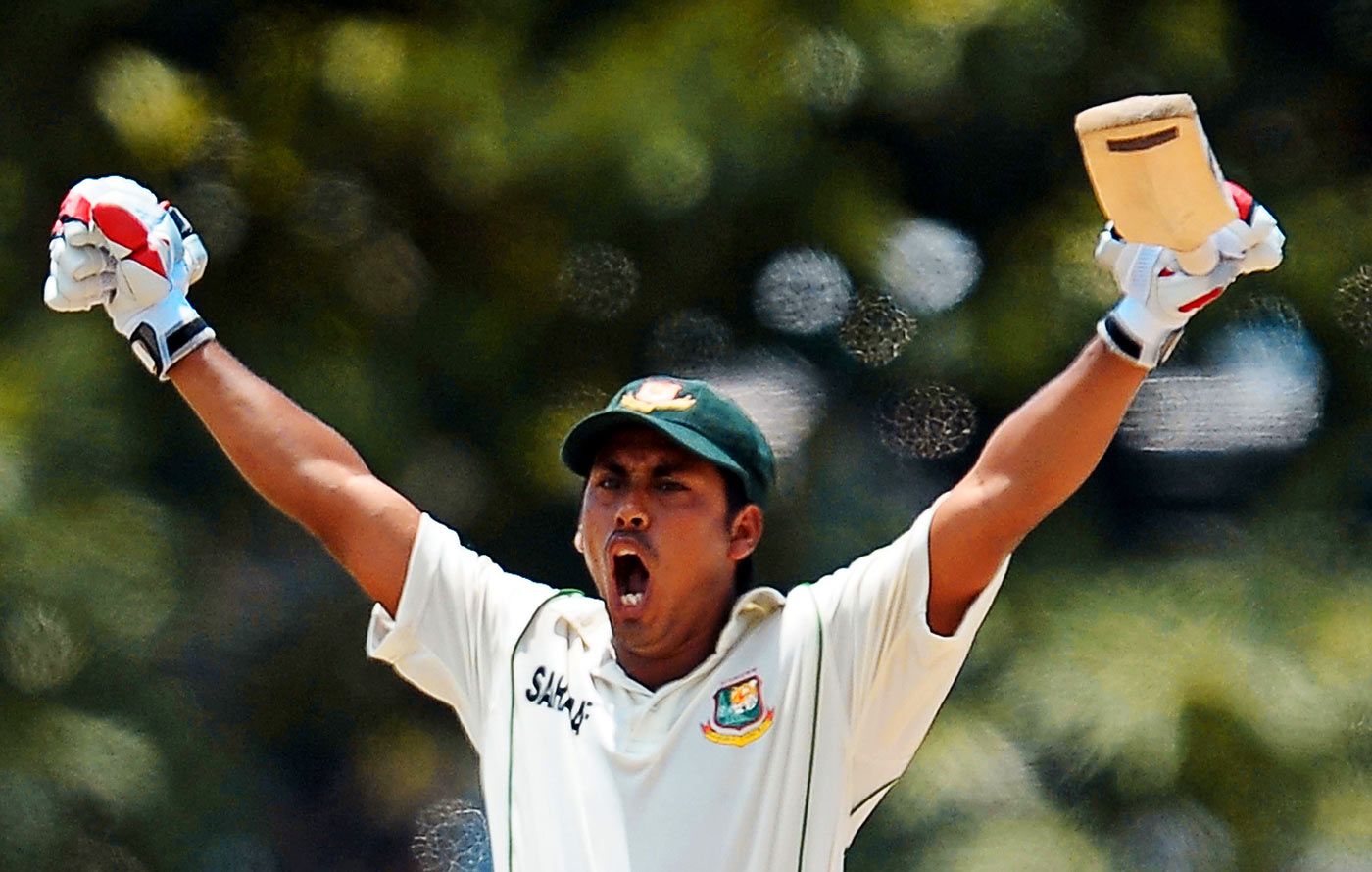The last roar: Ashraful's Test-best 190 came against Sri Lanka in March 2013, shortly before his world came crashing down