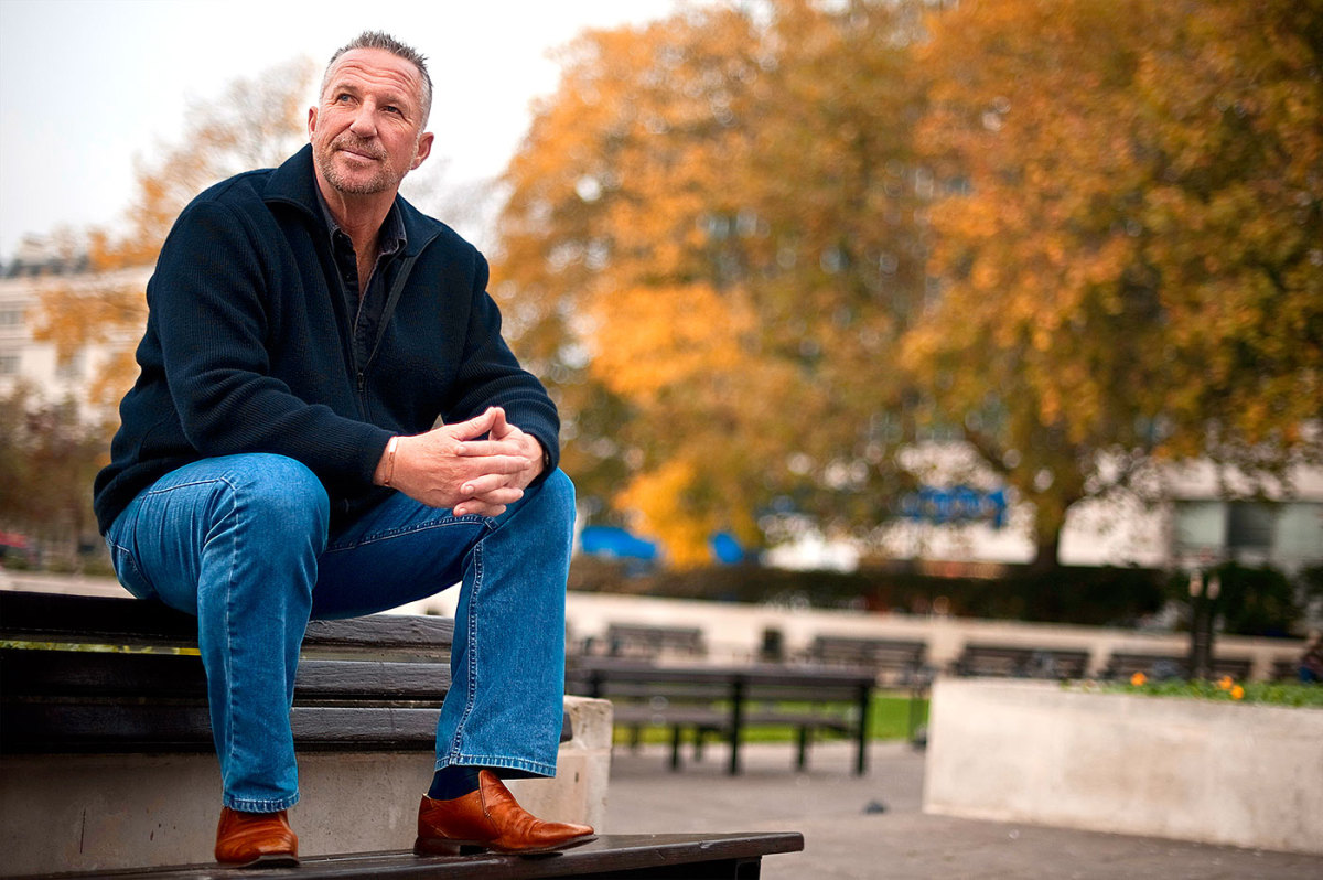 Ian Botham at the launch of