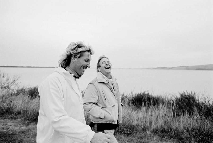 Botham with Frank Keating of the <i>Guardian</i> on a walk in 1988