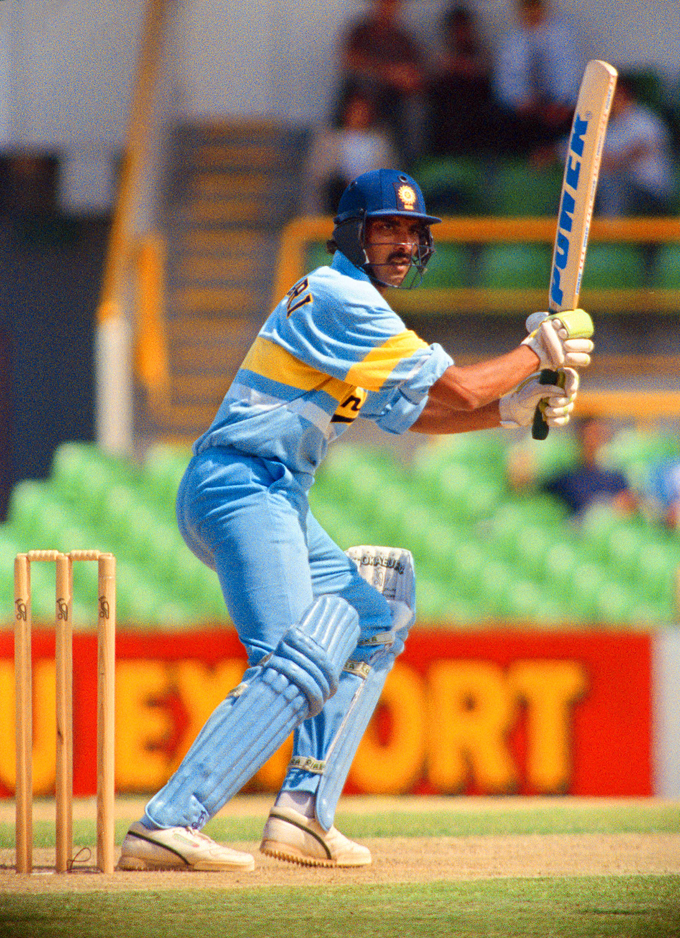 Ravi Shastri plays through the off side, Australia v India, 2nd match, Perth, December 8, 1991