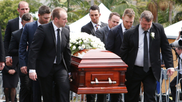 Michael Clarke, Aaron Finch and Tom Cooper were among Phillip Hughes' pallbearers