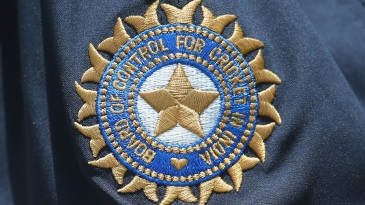 The BCCI logo on the Indians' kit