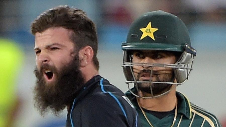 The beard baron: Anton Devcich roars after dismissing Sarfraz Ahmed