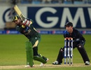 Saad Nasim made 19 off 21 balls, Pakistan v New Zealand, 2nd T20I, Dubai, December 5, 2014