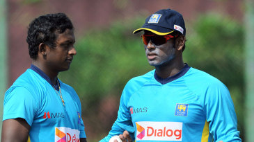 Ajantha Mendis chats with Angelo Mathews