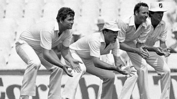 Slips cast: Lance Cairns, Jeff Crowe, Jeremy Coney and Geoff Howarth