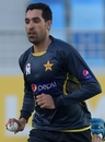 Umar Gul gets ready to bowl, Dubai, December 7, 2014
