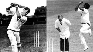 Composite: Graeme Pollock and Michael Holding