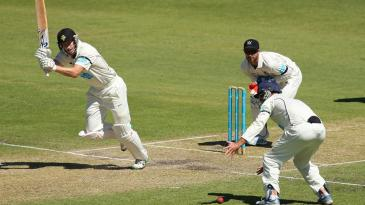 Adam Voges works the ball to leg