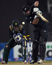 Dean Brownlie is bowled, Pakistan v New Zealand, 2nd ODI, Sharjah, December 12, 2014