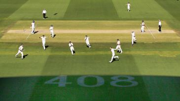 Australia go wild on winning the Test match