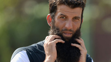 Hot work for Moeen Ali during training