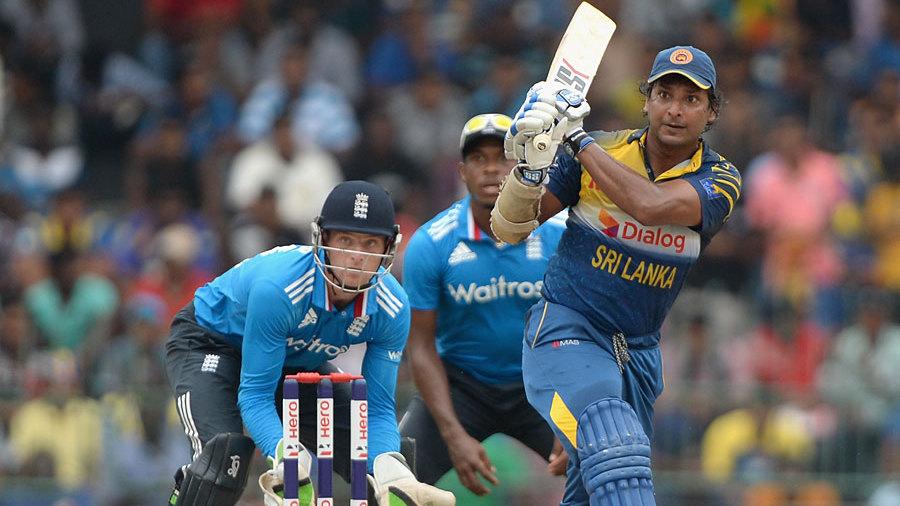 Kumar Sangakkara heaved a catch to midwicket