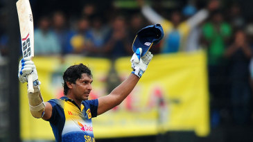 Kumar Sangakkara leaves the field
