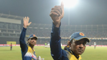Mahela Jayawardene and Kumar Sangakkara went for a lap of honour