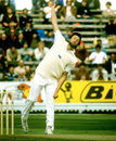 Mike Hendrick bowls, England v Australia, Prudential Trophy, 2nd ODI, Edgbaston, June 6, 1981
