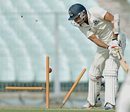 Laxmi Shukla was bowled after a brisk 57, Bengal v Karnataka, Ranji Trophy, Group A, 4th day, Kolkata, December 17, 2014