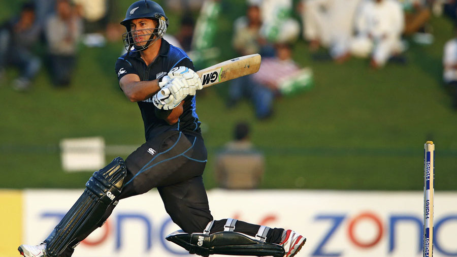 Ross Taylor directs the ball through the leg side