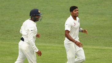 Umesh Yadav took three of the four Australian wickets to fall