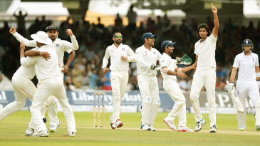 India celebrate the wicket of Ben Stokes