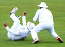 Alviro Petersen holds onto a catch at slip to remove Kraigg Brathwaite, South Africa v West Indies, 1st Test, Centurion, 3rd day, December 19, 2014