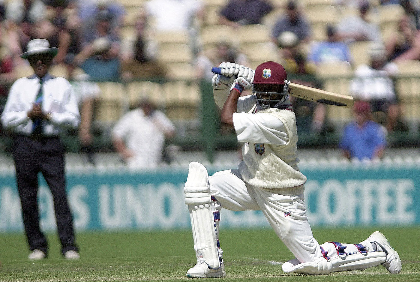 Brian Lara plays the cover drive | Photo | Global | ESPNcricinfo.com