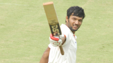 Jalaj Saxena celebrates his ninth first-class ton
