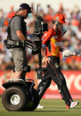 Ashton Turner is followed by a cameraman on a segway, Perth Scorchers v Adelaide Strikers, Big Bash League 2014-15, Perth, December 22, 2014