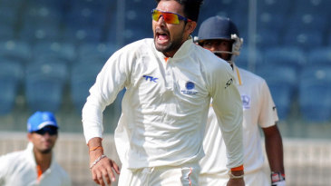 Ankit Sharma scored a half-century and took four wickets on the second day