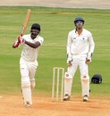 R Prasanna made 74 but could not prevent Tamil Nadu from being asked to follow-on, Ranji Trophy, Group A, Chennai, 3rd day, December 23, 2014