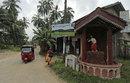 A signboard pointing to the Surrey Village Ground in Maggona, Sri Lanka, December 5, 2014