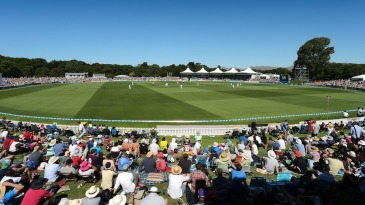 Hagley Oval hosted New Zealand's first Boxing Day Test in 11 years