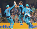 Ryan Duffield rattled the Stars top order with quick wickets, Brisbane Heat v Melbourne Stars, Big Bash League 2014-15, Brisbane, December 28, 2014