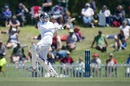 Shaminda Eranga pulls during his 45, New Zealand v Sri Lanka, 1st Test, Christchurch, 4th day, December 29, 2014