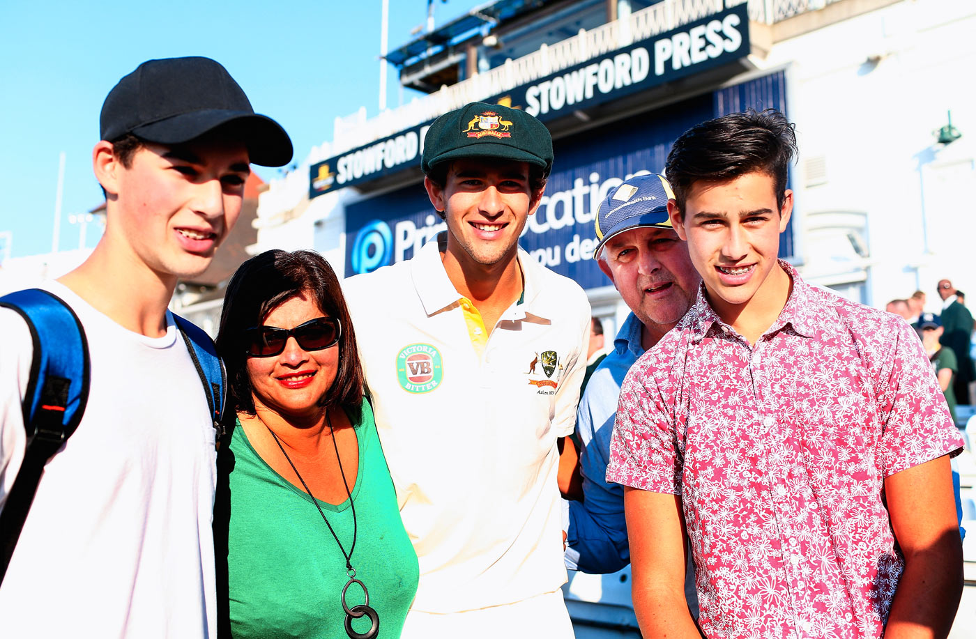 The Half-Sri Lankan-blood Prince: Ashton Agar, who scored 98 on Test debut, with his family