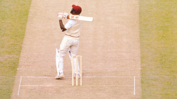 Viv Richards hits the defining shot of the 1983 World Cup final