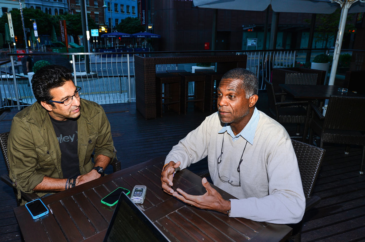 Michael Holding and Wasim Akram talk about fast bowling during an interview with ESPNcricinfo