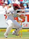 Leon Johnson ducks into a short ball, South Africa v West Indies, 3rd Test, Cape Town, 1st day, January 2, 2015