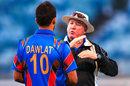 Afghanistan coach Andy Moles talks to Dawlat Zadran, Western Australia XI v Afghanistan, Perth, September 22, 2014