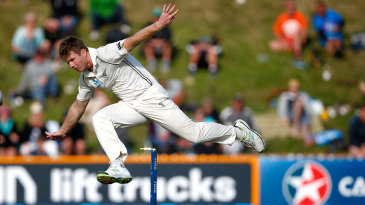 James Neesham performs an acrobatic leap