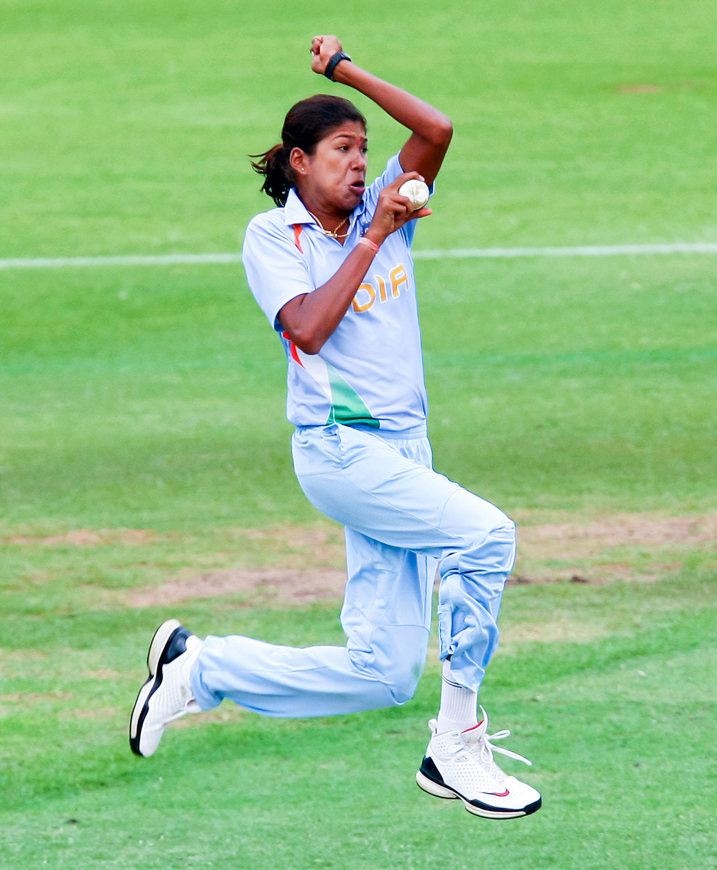 Speed thrills: Goswami is recognised as one of the fastest bowlers in the women's game