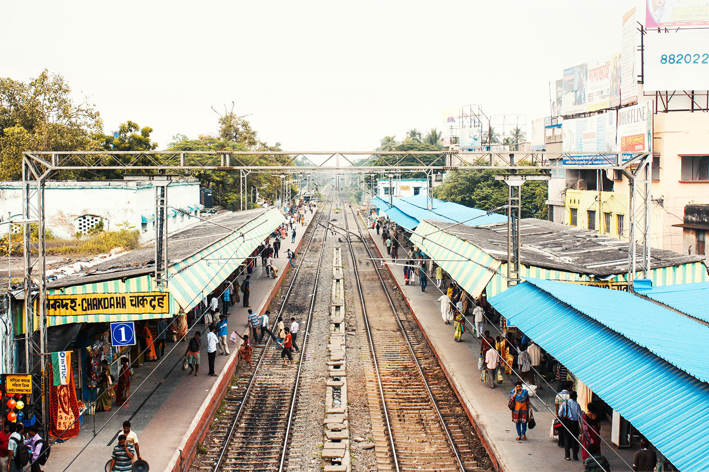 Never a dull moment at Chakdaha Station