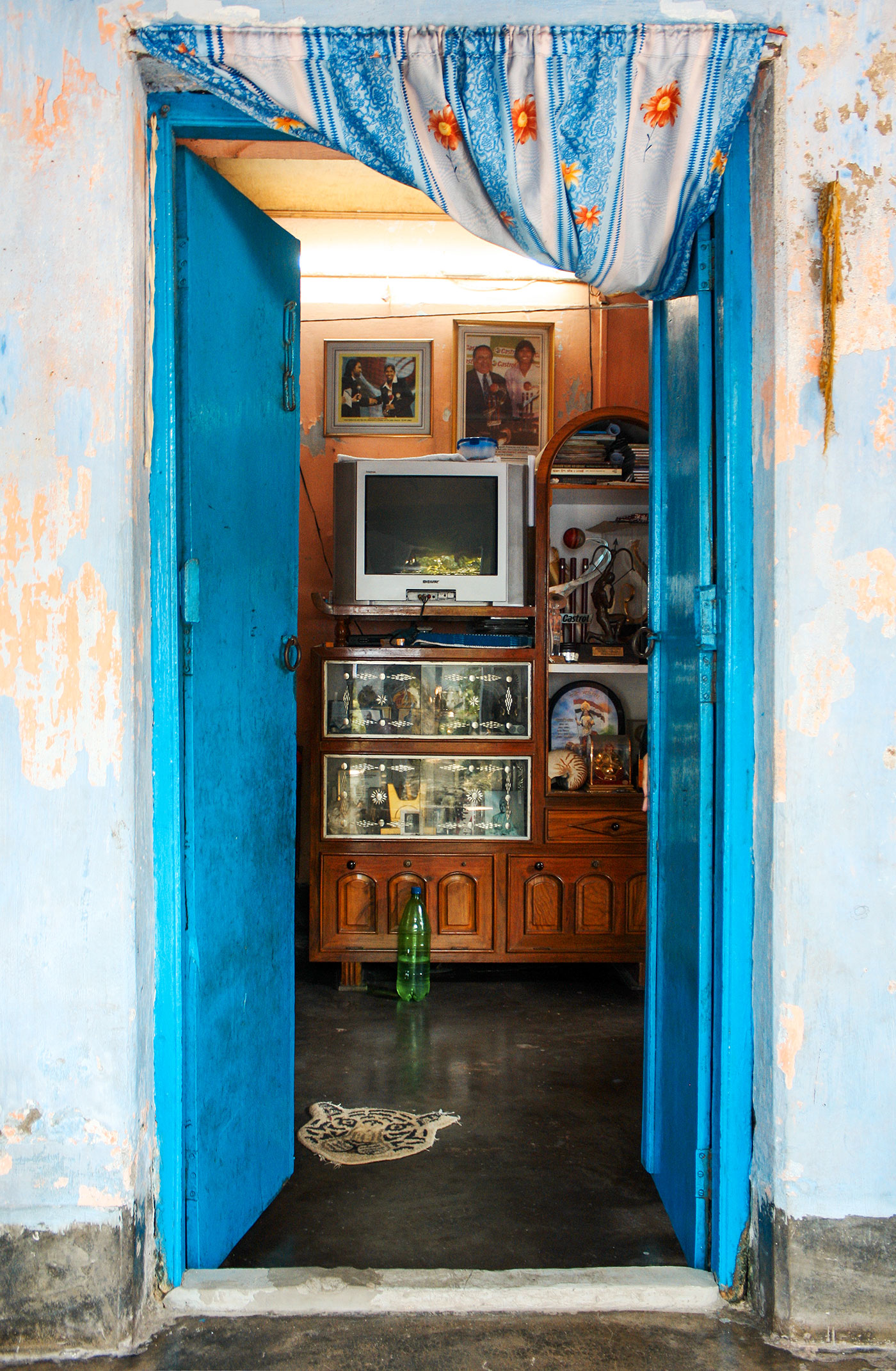 About a girl: the trophy cabinet in Goswami's room