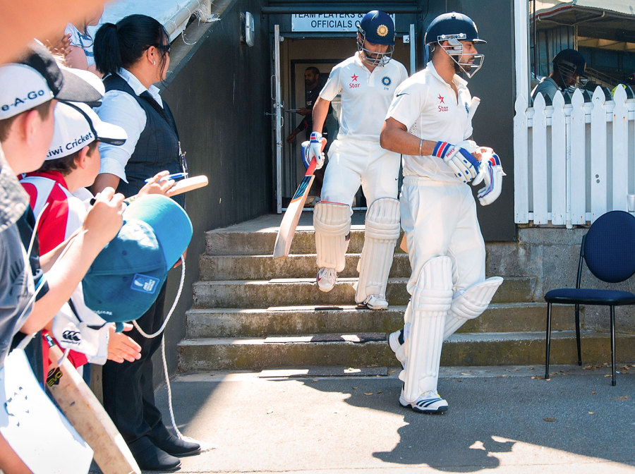 The anti-Kohli: in marked contrast to some of his team-mates, Rahane is quiet, undemonstrative and restrained
