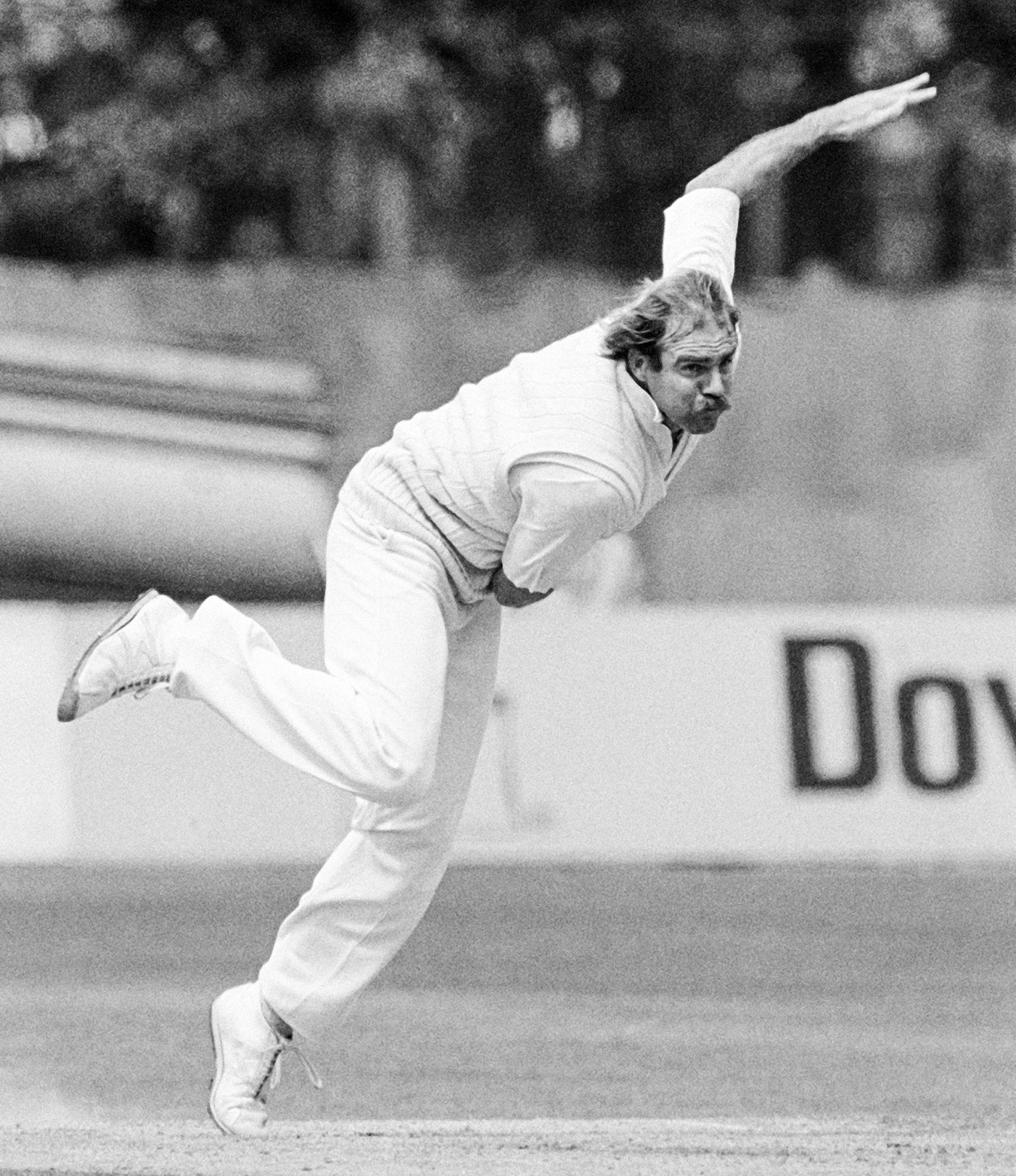 Mean machine: Le Roux bowls in county cricket in 1987