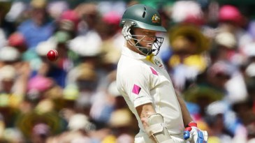 Chris Rogers evades a short ball
