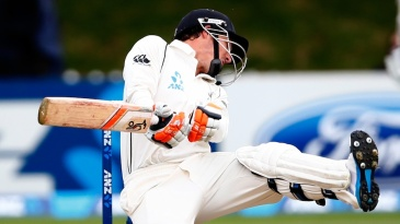 BJ Watling avoids a bouncer