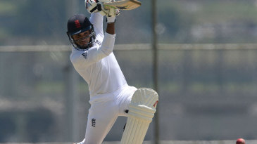 Adil Rashid gets on the front foot to drive
