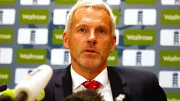 Peter Moores addressed the media before England departed for Australia