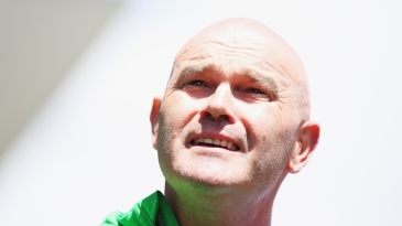 Martin Crowe was at Eden Park where he spoke to the media